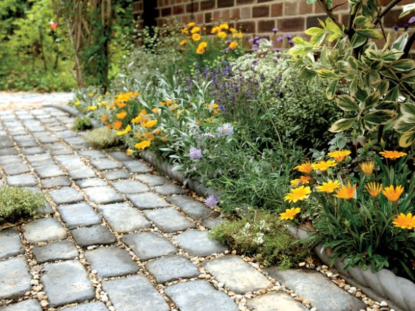 garden design with really clever diy garden path ideas page of tips bulletin with flowers landscape