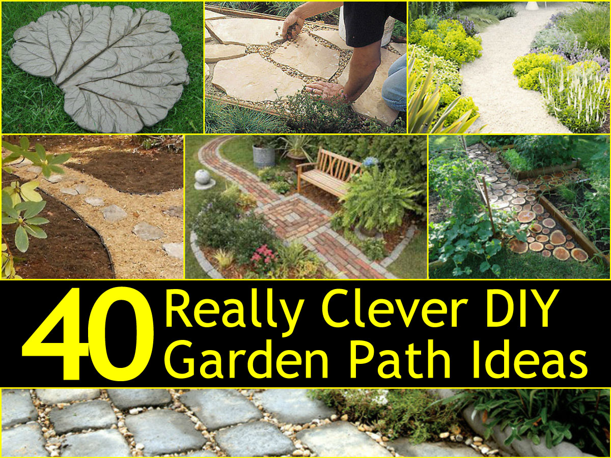 40 really clever diy garden path ideas for Easy garden path ideas