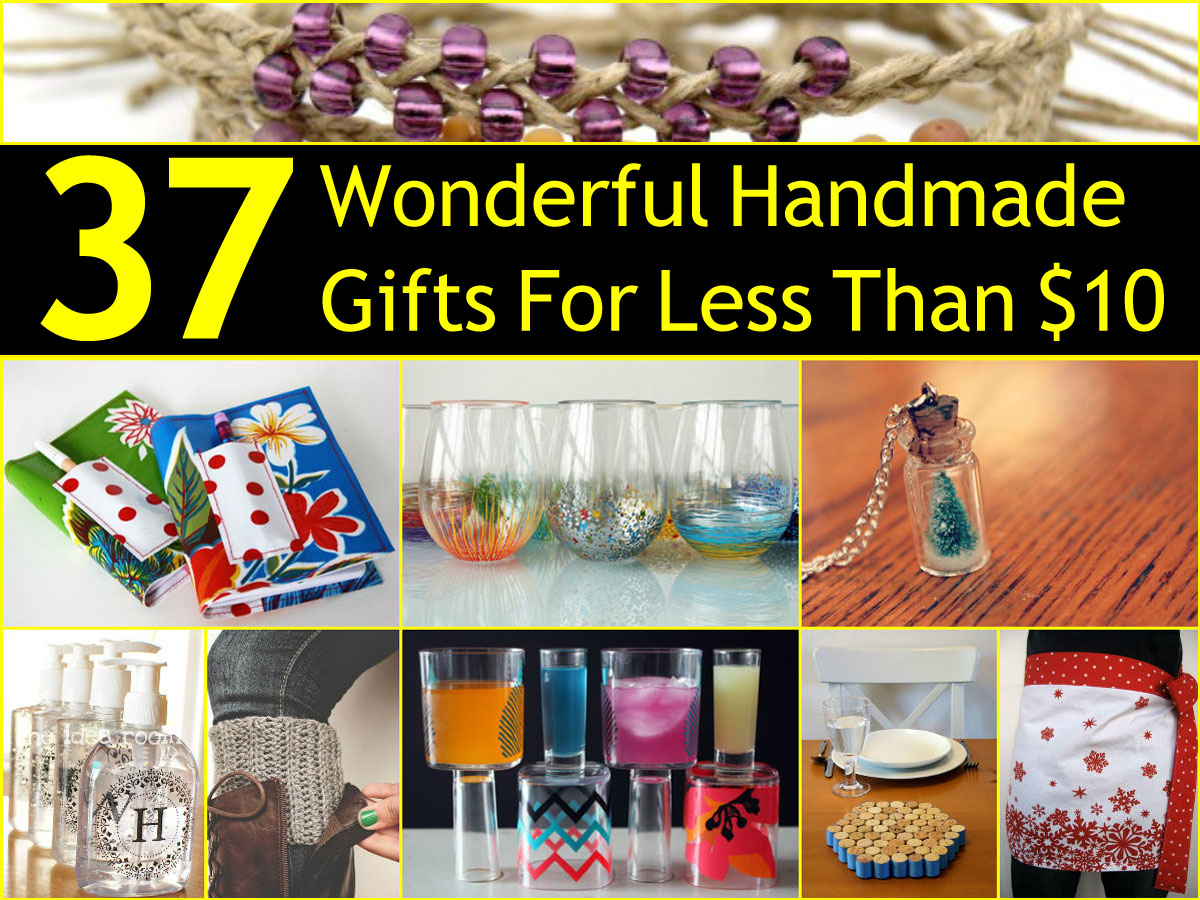 37 wonderful handmade gifts for less than 10 for Handmade things videos